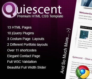 Quiescent - Premium HTML & CSS Template